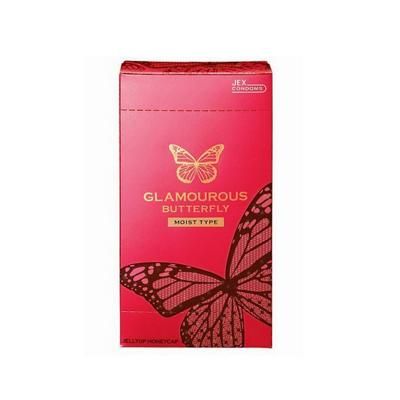 2 Hộp Bao cao su Jex Glamcurous Butterfly moist 1000-hộp 12c