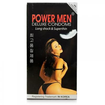 5 hộp Bao cao su Power Men Long Shock and Super Thin